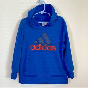 Adidas Blue Hooded Fleece Lined Sweatshirt 5